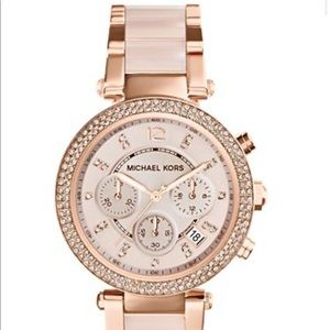 Michael Joe's rose gold blush watch